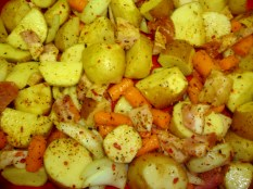 oven roasted potatoes and veggies 1